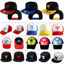 Pokemon Go Cap Team Mystic Instinct Trainer Valor Ash Ketchum Baseball Sun Hat