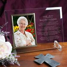 Personalized In Loving Memory Memorial Picture Frame Beveled Glass Photo Frame