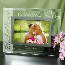 Personalized Maid of Honor Picture Frame Engraved Photo Frame Maid of Honor Gift