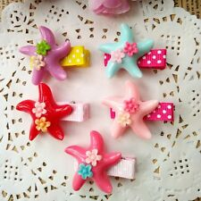 10PCS/lot cute resin starfish Kids Girls Baby Hair Clips Hair Accessories