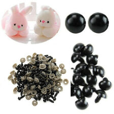 100 Pcs Popular 6-14mm Black Plastic Safety Eyes for Teddy Bear Dolls Toy Animal