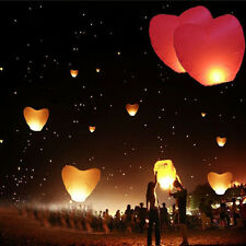 China Kongming Heart Paper Sky Fire Lantern Fly Light Balloon Wishes lamps TSUS