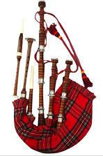 New Great Highland Bagpipes Natural Finish Silver Mounts/Scottish Bagpipes Reeds