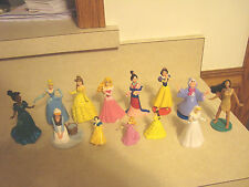 LOT OF 13 DISNEY PRINCESS'ES TOY FIGURES/CAKE TOPPERS