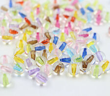Wholesale 6/8/10mm Acrylic Spacer Beads Colorful Round Ball Mixed Jewelry