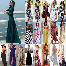 High Sexy Women Summer Long Maxi BOHO Evening Party Dress Beach Dresses Sundress