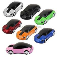 2.4GHz Wireless 1600DPI Car Shape Optical USB Gaming Mouse PC Laptop Mice