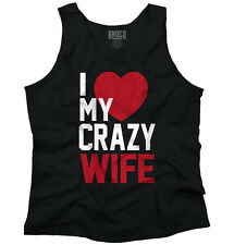 Couple T Shirt Husband and Wife Shirt I Love My Crazy Wife Tank Top Shirt