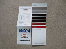 2002 CAMARO SS CHEVROLET FACTORY COLOR CHIP SAMPLE CHART BROCHURE