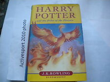 Harry Potter and the order of the phoenix J. K. Rowling FIRST EDITION  average