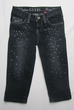 Guess Foxy Cropped Diamante Jeans Size 4, 6, 8, & 10 Yrs BNWT