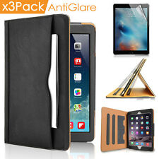 Luxury Smart Stand Wallet Leather Case For iPad 2 3 4 Retina Matte Screen Film