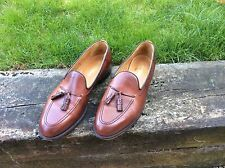 RUSSELL & BROMLEY ALFRED MEN'S LEATHER TASSLE SLIP ON SHOES LOAFERS 12 46 VGC