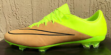 Men's Nike Mercurial Vapor X FG Tech Craft Leather Soccer Cleats Size 10.5 VOLT
