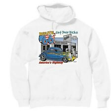 Pullover Hooded Transportation Sweatshirt Get Kicks Route 66 America's Highway