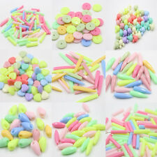 10-100PCS charm beads mixed color acrylic various Shape Jewelry Free Shippings