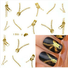 Gold Silver Nail Art Tips Stickers Decal Wraps Acrylic Manicure Decoration ww