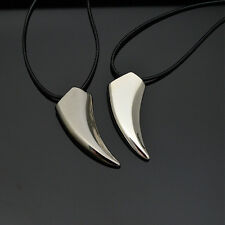 Fashion Women Men Wolf Tooth Shape Stainless Steel Pendant Necklace Best Gift