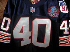 Chicago Bears #40 Gale Sayers Throwback HOF patch BLUE sewn Jersey NWT! payton