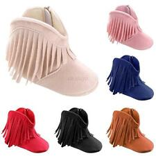 Tassel Boots Baby Boy Girl Shoes Soft Soled Newborn Toddler Winter Infant Fringe