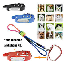 2Pcs Value Pack(Custom Dog Collar+Traction Rope)Personalised Pets Lead Leash Set