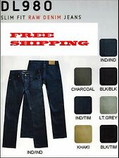 Victorious Mens Slim Fit Jeans Raw Denim Pants Casual Stretch Trousers 980