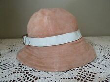 COACH Crusher Bucket Hat Pink Suede Size Petite  Small