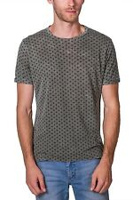 T-shirt Burnout All Over Print Crew Neck Short Sleeve NEW Mens Green PX