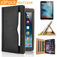 3x Clear Screen Film USB Data Cable iPad Pro 12.9 Smart Wake Stand Leather Case