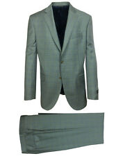 Jack Victor Men's Gibson Regular Fit Light Grey Windowpane Suit