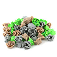 100pcs Wholesale Charms Assorted FIMO Polymer Clay Rose Flower Loose Beads L