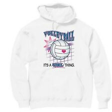 Pullover Hooded Sports Sweatshirt Volleyball It's A Girl Thing