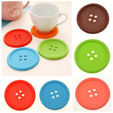 Silicone Coffee Placemat Button Coaster Cup Mug Glass Beverage Holder Pad Mat RS