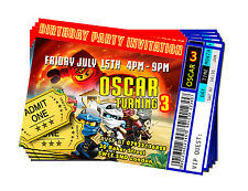 Personalised Lego Ninjago Invitations Vip Ticket Birthday Party Card - 02