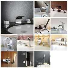 USA Warehouse Bathroom Basin Bath Tub And Shower Faucet Mixer Tap Modern Style