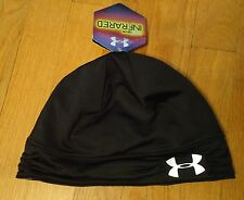 NWT UNDER ARMOUR COLD GEAR INFRARED COZY BEANIE HAT WOMENS ONE SIZE OSFA BLACK