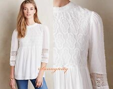 NWT sz L ANTHROPOLOGIE Meda Lace Top by one.september Feminine Romantic Top RARE