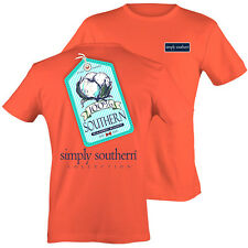 Simply Southern 100% Southern Raised Right Cotton Bright Girlie T-Shirt