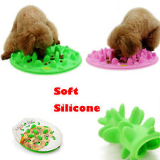 Slow Feed Non Skid Dog Cat Pet Bowl Dish Silicone Feeder Interactive Bloat Stop