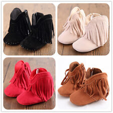 Fringe Boots Boy Girl Baby Soft Soled Shoes Infant Toddler Winter Newborn Tassel