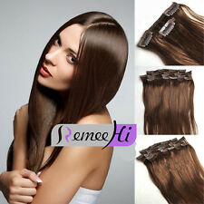 """10pcs 140g Set Clip in Real Remy Human Hair Extension 20"""" Natural Hair Extension"""