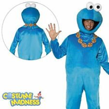 Sesame Street Cookie Monster Costume- Adult Outfit Licensed Fancy Dress