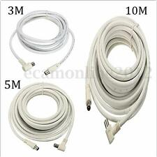 TV Antenna Flylead Male to 90° Male Aerial Cable Cord Signal Coax Coaxial Lead