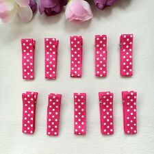 50pcs/lot kids Girls Dot Rosy Hair Clip Hairpin Baby Hair Accessories DIY