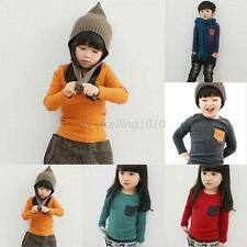 Soft Cotton Toddler Shirt Boys Girls Kids Long Sleeve T-shirt Tee Tops 2-7 Years