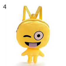 Lovely Kid Cute Expression Plush Toys Bags Yellow Girls Boy Children's Backpacks