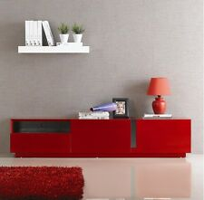 Red Modern Cabinet TV STAND Media Console Home Office Furniture Solid Wood Flat