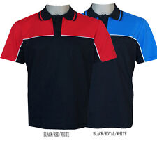 Men's horizontal Contrast panel with  piping polo shirts