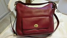 Authentic New COACH Legacy Leather Courtenay Hobo Cross Body Bag Deep Port 22381