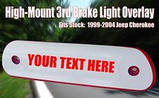1999 - 2004 Custom Jeep Grand Cherokee Laredo 3rd Brake Light Overlay Decal